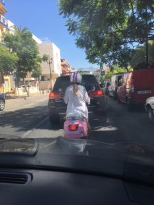 pink scooter spain