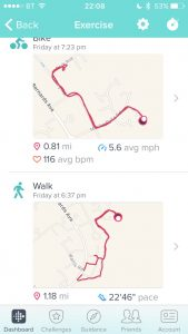 fitbit walk cycle